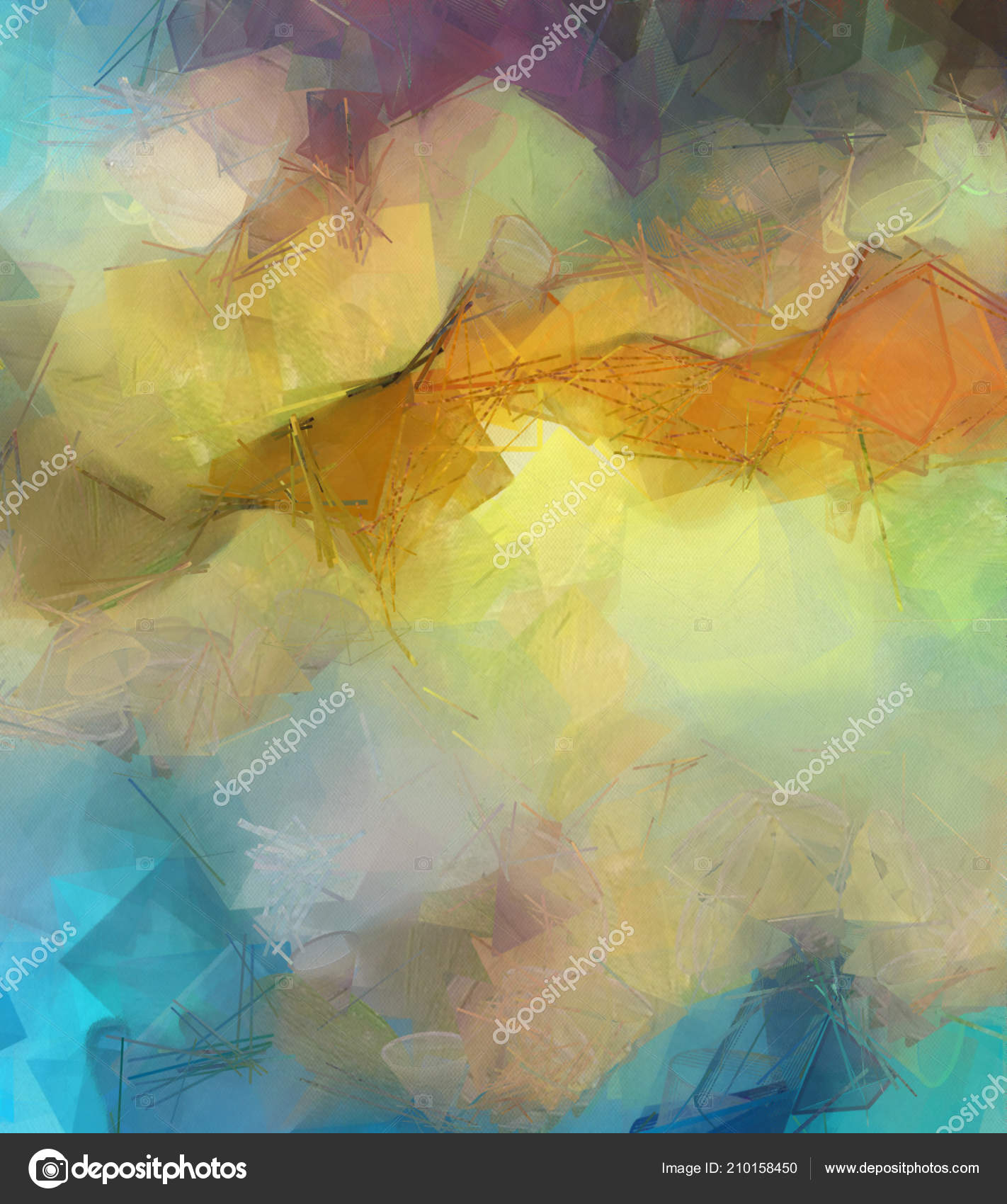 Abstract Painting Background Big Size Oil Painting Modern Wall Art