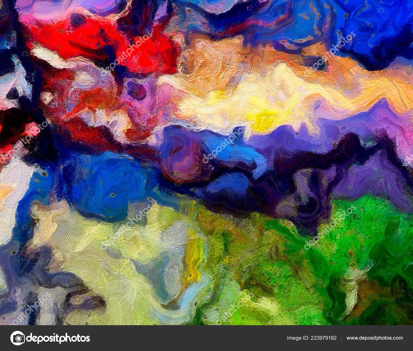 Pittura Pareti Stile Moderno.Modello Astratto Arte Digitale Mano Disegno Stile Moderno