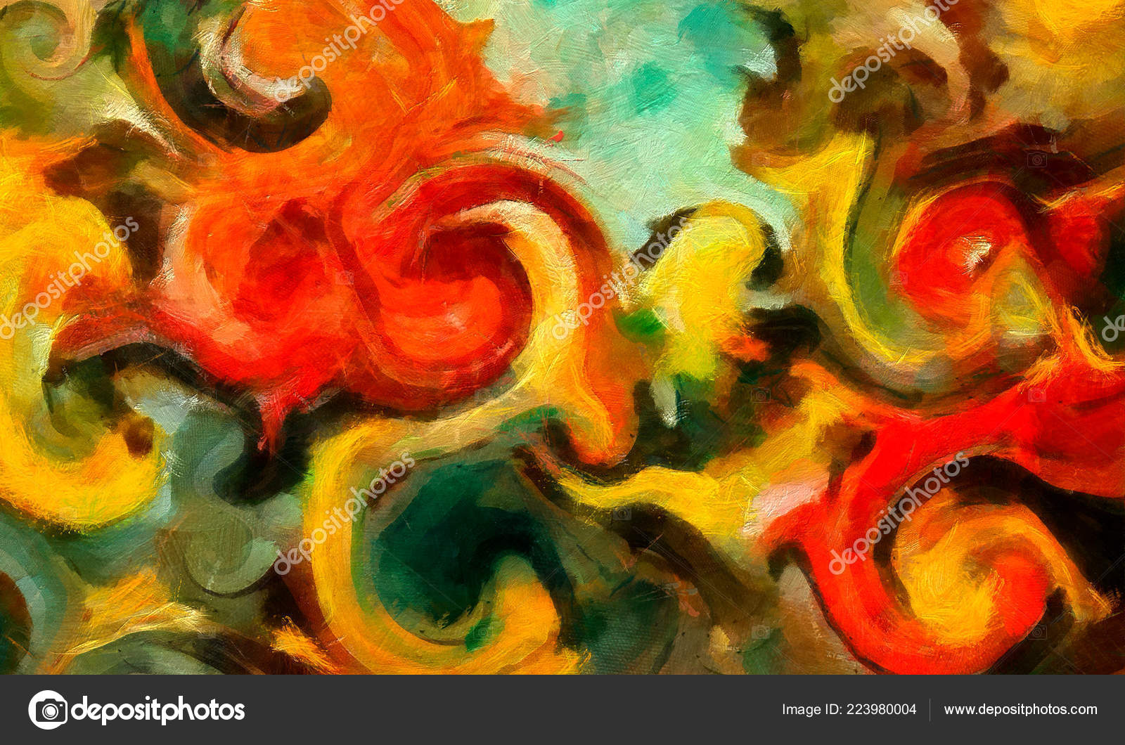 Digital Art Abstract Pattern Hand Drawing Modern Style Art