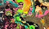 Olejomalba abstraktní pozadí ve stylu impresionismu módy. Ručně nakreslený vzor pro projektové práce. Šablona pro výzdobu tiskových produktů. Moderní a současné umění. Potřísnění nátěru. Jemné tahy štětce.