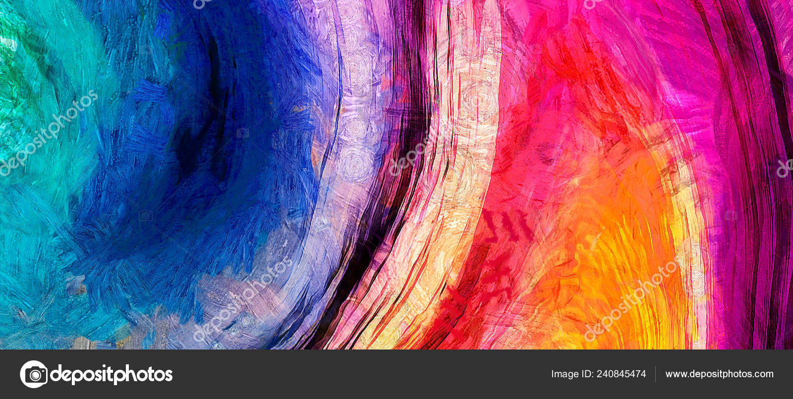 Oil Painting Abstract Modern Contemporary Art Background