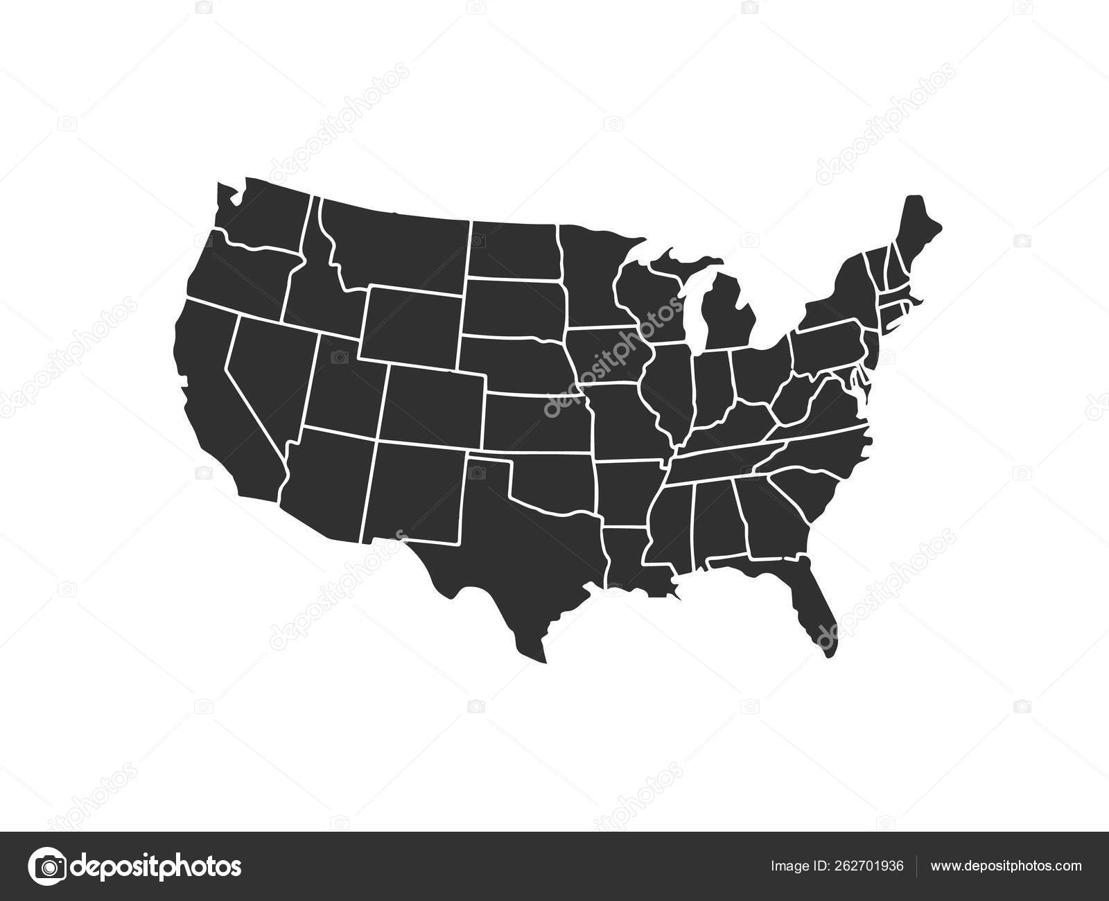 Blank similar USA map isolated on white background. United ... on cf map, wx map, gh map, world map, br map, pk map, ba map, mc map, labeled us map, de map, sl map, gu map, be map, tz map, 50 states map, university of arizona map, gn map, cx map, ukraine map,