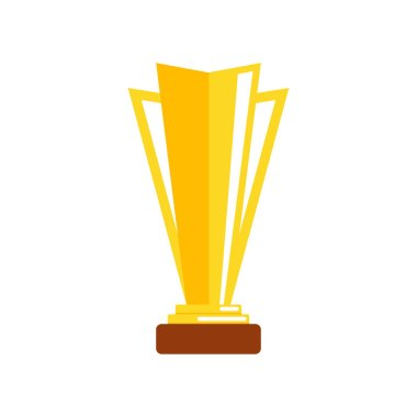 Award and trophy cup icon. Golden cups for winners and others sport trophy. Golden reward. Win awards. Trophy medals. Vector illustration.