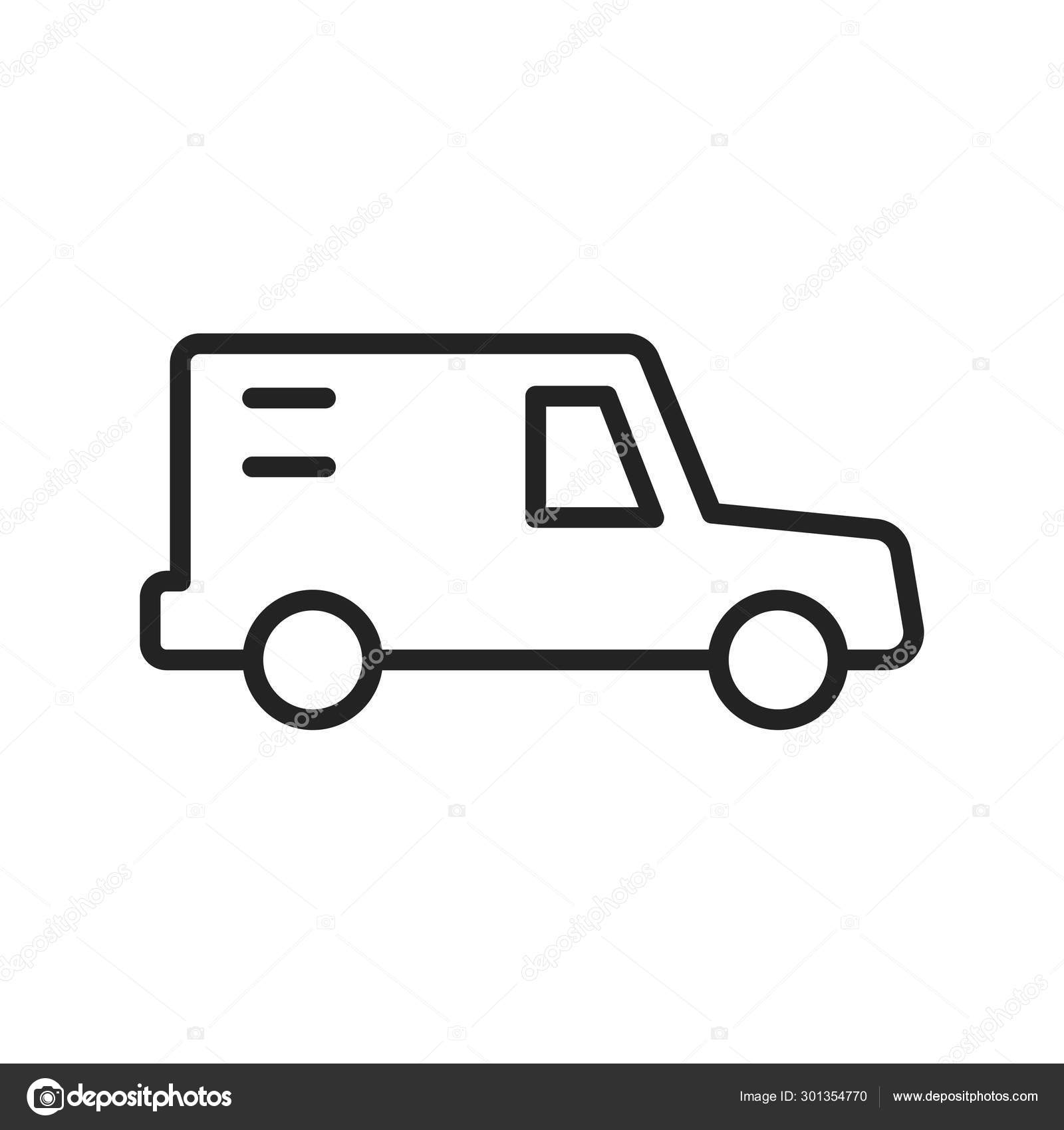 Delivery and logistics icons in line style  Courier