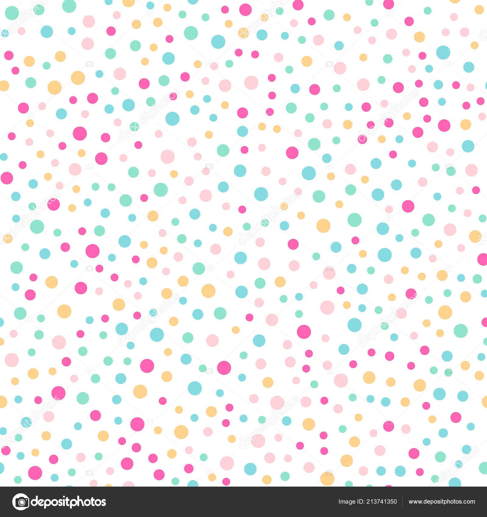 3374ef57a9 Bolinhas coloridas sem costura padrão em branco 3 fundo Ideal ...