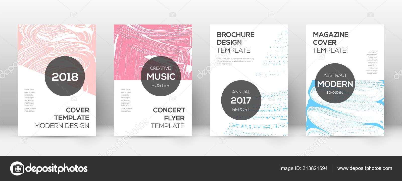 cover page design template modern brochure layout comely trendy