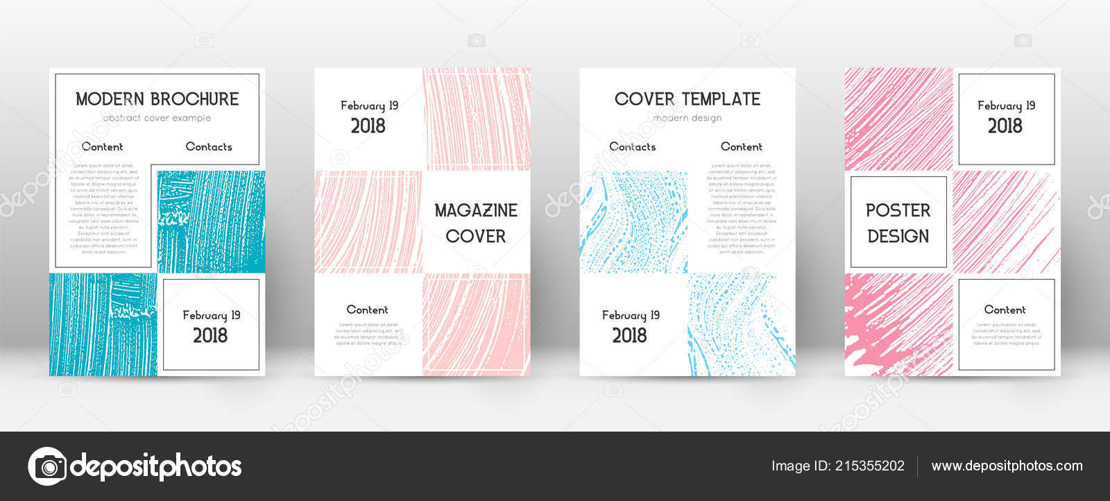 cover page design template business brochure layout bizarre trendy