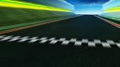 Fotografia Vista del moto infinito vuoto asfalto pista da corsa internazionale con partenza e traguardo di sfocatura