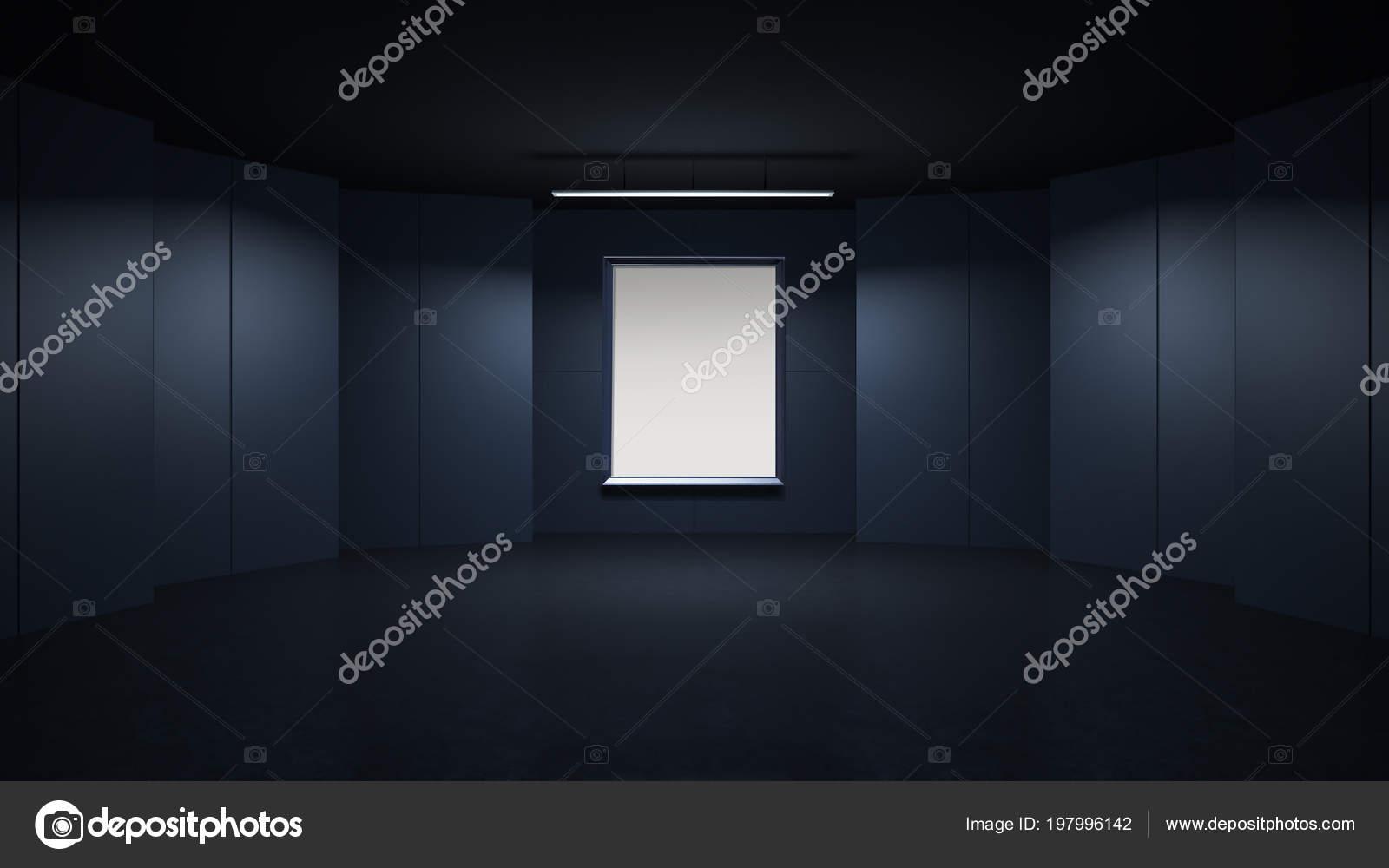 Rendring vuota cornice rendering con sfondo spazio design