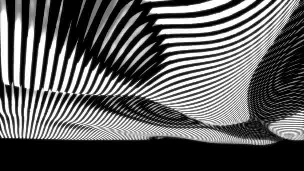 black and white op-art waves seamless loop