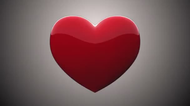 Tlukot srdce 3d animace prvek s Alfa podkladu