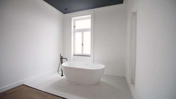 felvételeket a stílusos modern fehér fürdőszoba