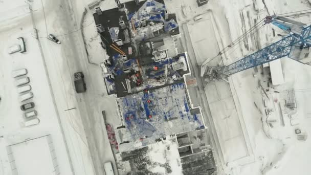 aerial survey of the construction site