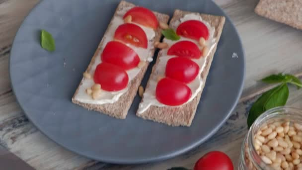 Főzés az egészséges vegetáriánus szendvicsek