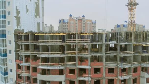construction of a house, aerial, copter shoot