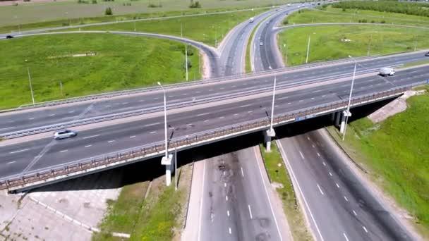 Highway, interchange. Aerial shooting
