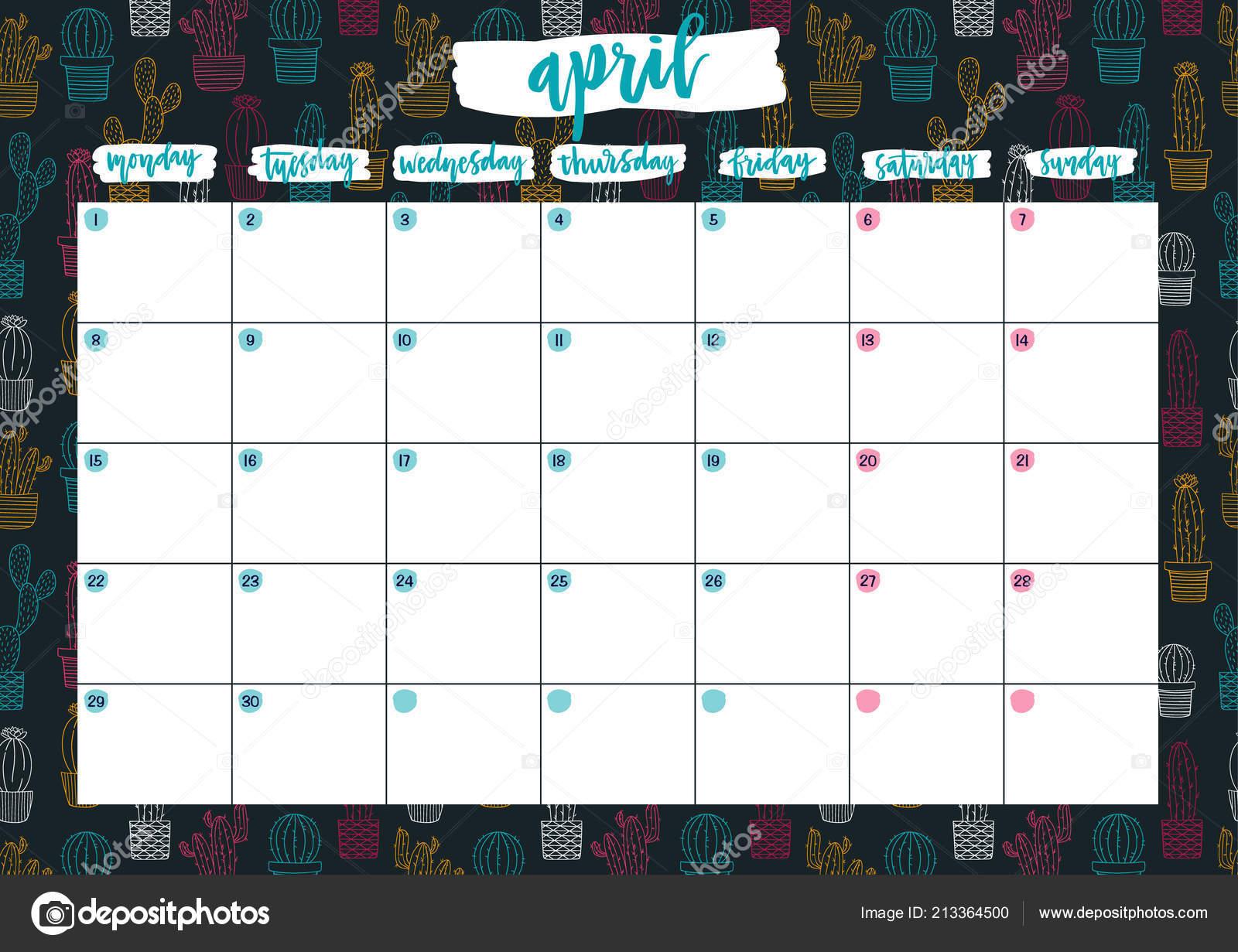 Calendario Dezembro 2019 Bonito.Calendario Mensal A4
