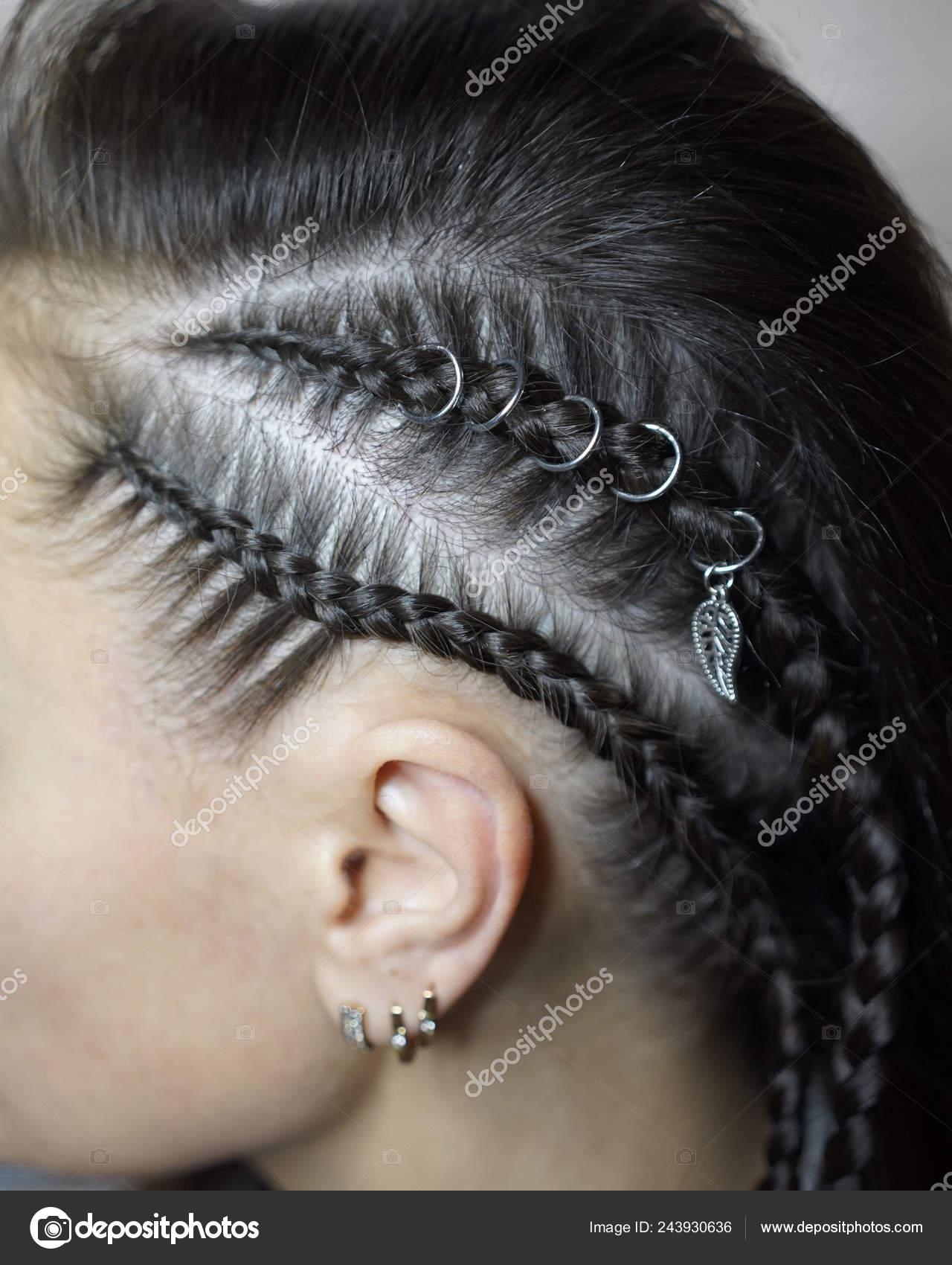 Sensational Hair Of A Girl Plaited In Pigtails White Hair Woven Into Braids Schematic Wiring Diagrams Phreekkolirunnerswayorg