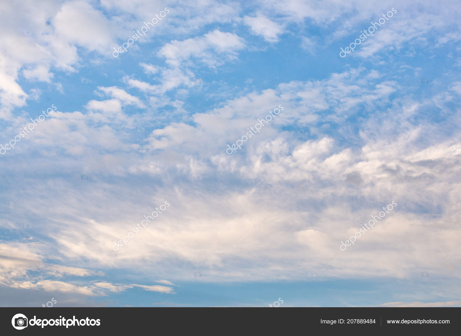 blue sky clouds background stock photo barilos 207889484