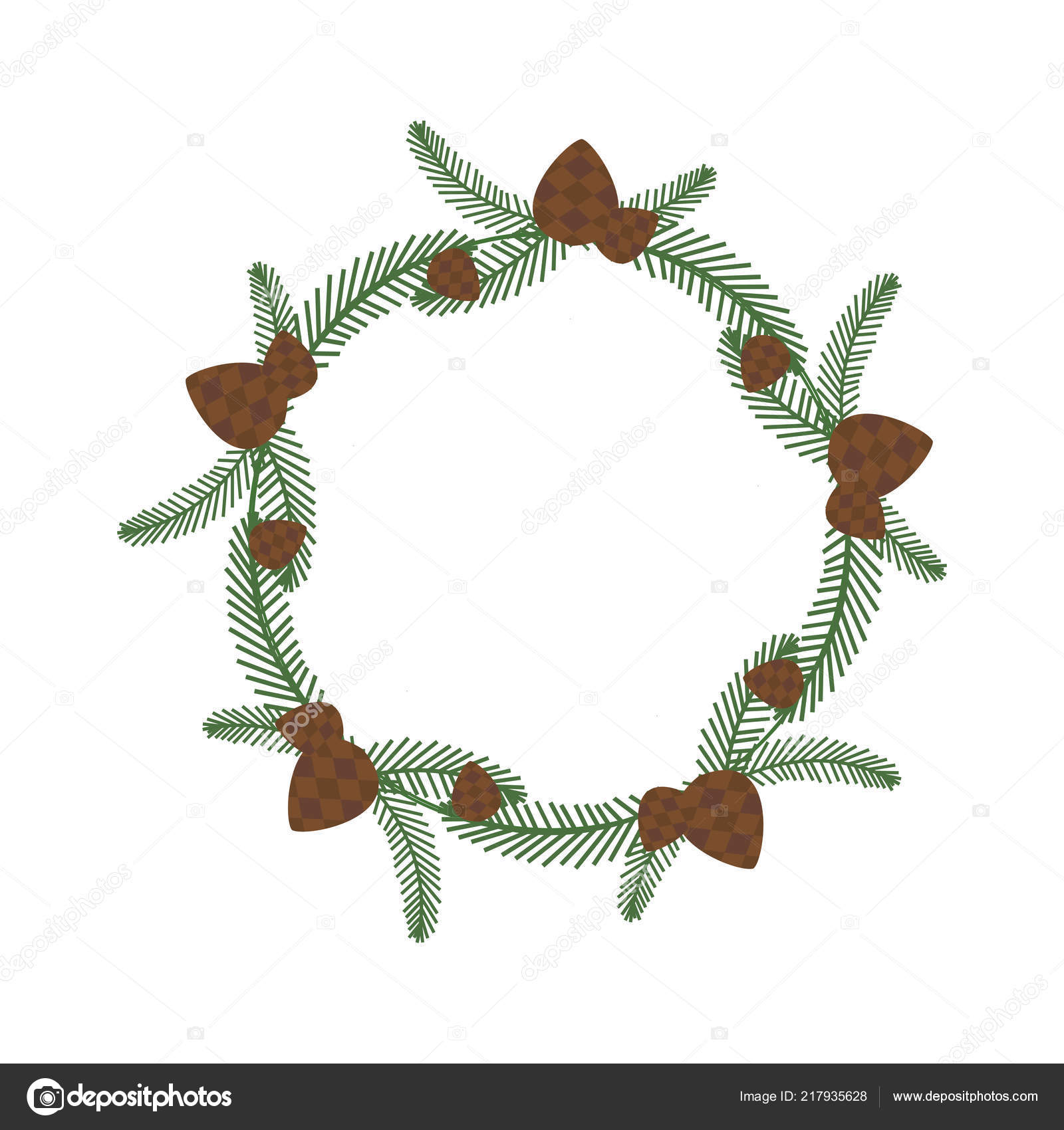 Christmas Holiday Wreath Icon Vector Image By C Krugli86 Gmail Com Vector Stock 217935628