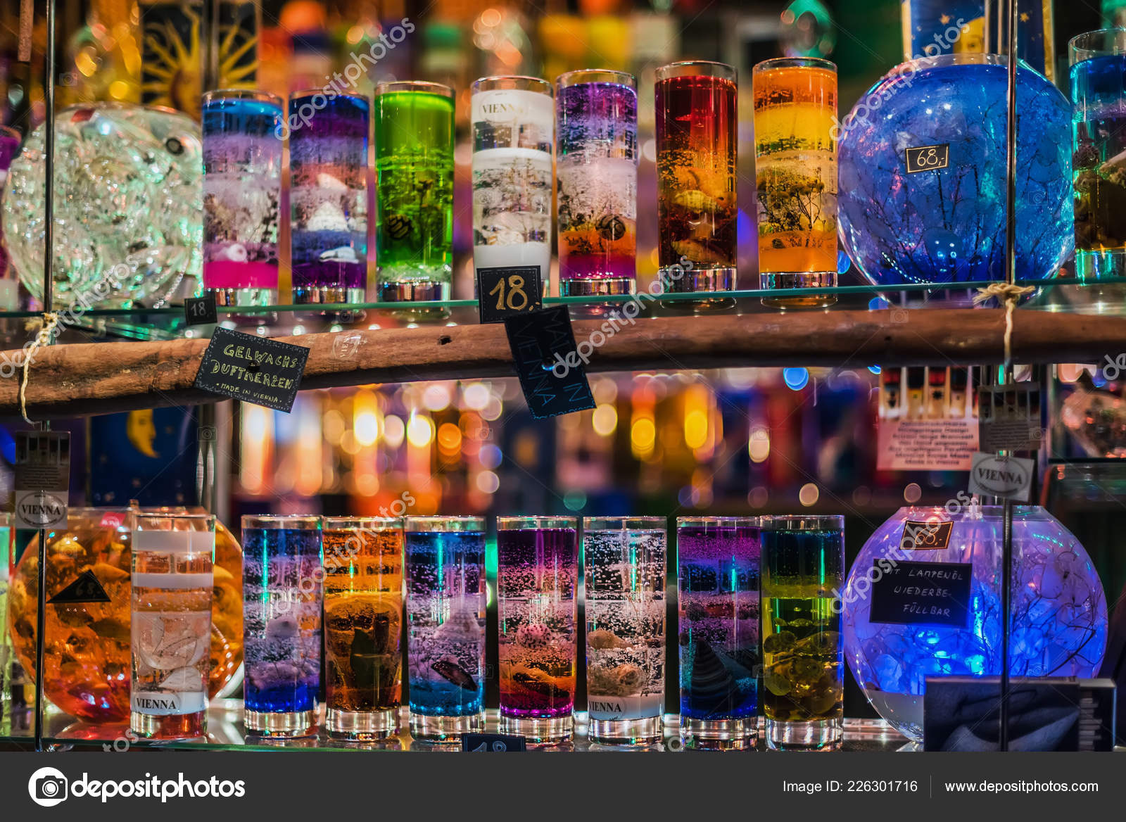 Christmas Jelly Glass Candle Kiosk – Stock Editorial Photo