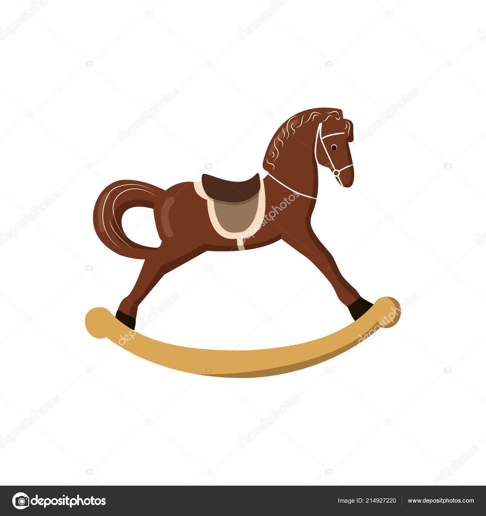 Rocking Horse Colorful Vintage Christmas Toys Kids Stock Vector C Everilda Mary Gmail Com 214927220