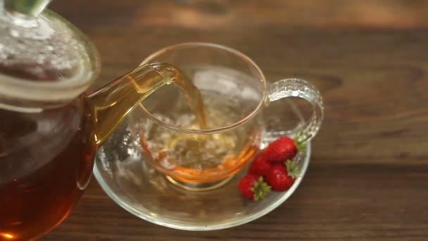 wild strawberry tea in beautiful cup