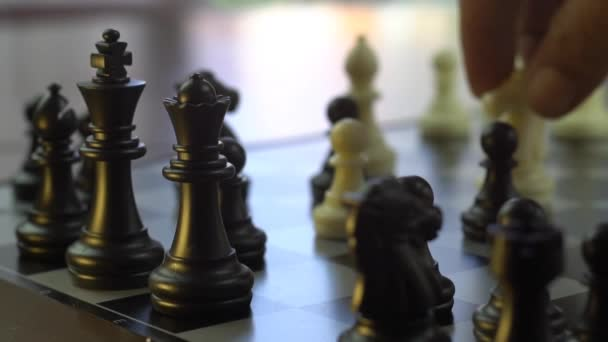 wonderful chess figures and business strategy concept