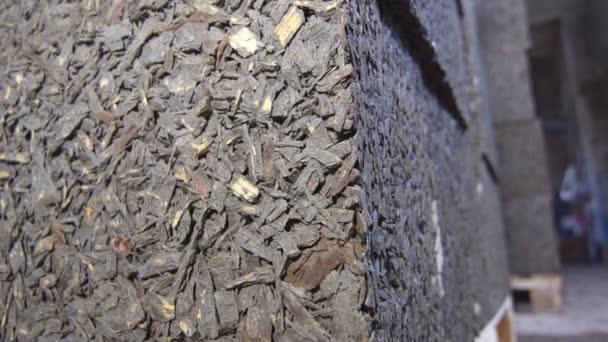 obchodní sklad betonových kvádrů, zblízka