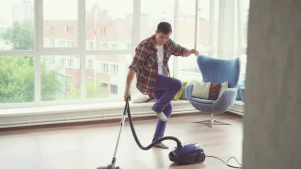 Image of: People Doing Funny Man Doing The Cleaning Vacuums And Have Fun Dancing Stock Video Funny Man Doing The Cleaning Vacuums And Have Fun Dancing Stock