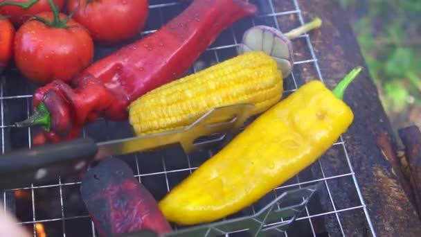 Como Cocinar Verduras A La Plancha | Cocinar Verduras A La Plancha Sobre El Fuego En La Naturaleza