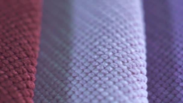 Nahaufnahme von texturierten mehrfarbigen Stoffen