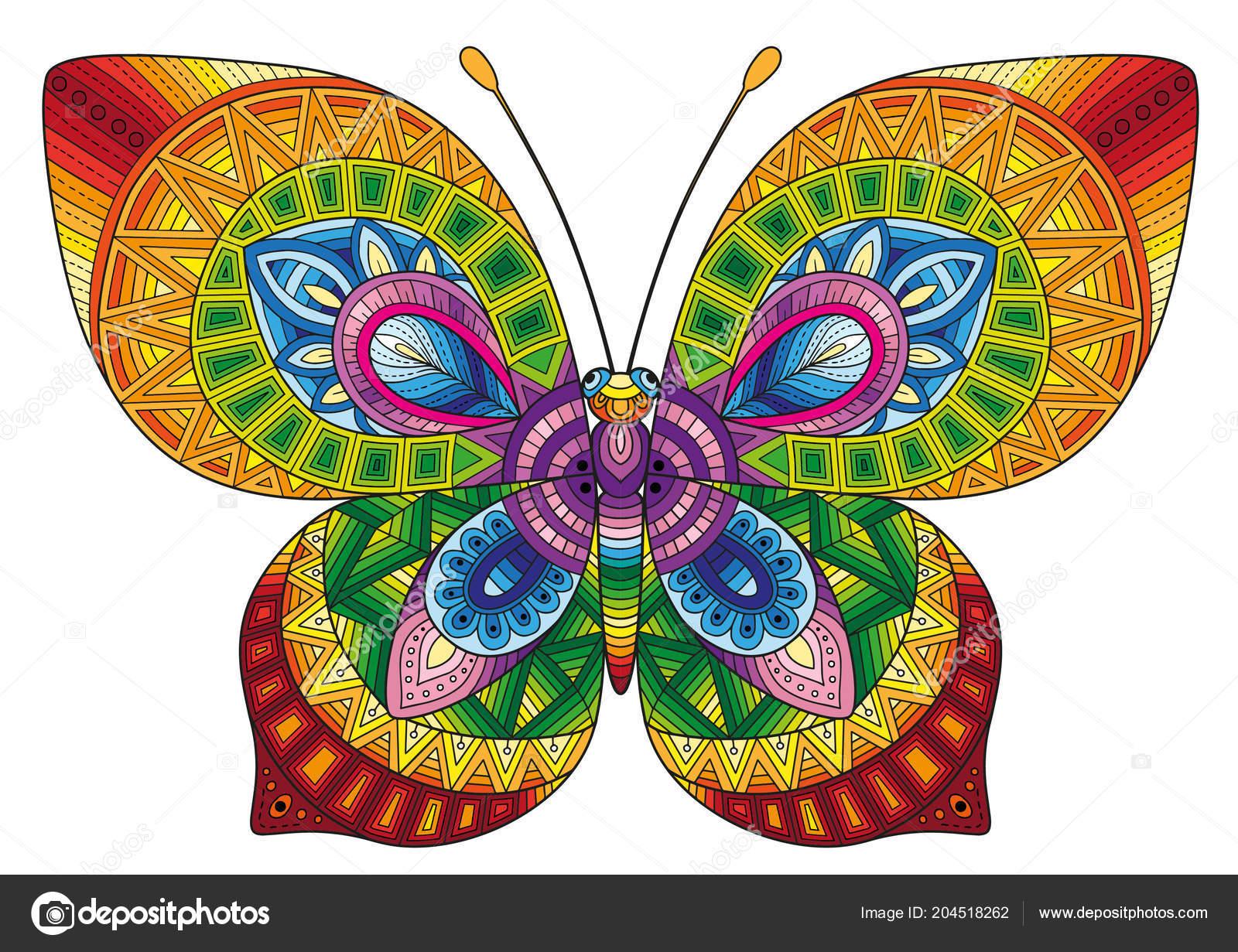 Mariposas Decorativas Colores Brillantes Imagen Para Imprimir Ropa