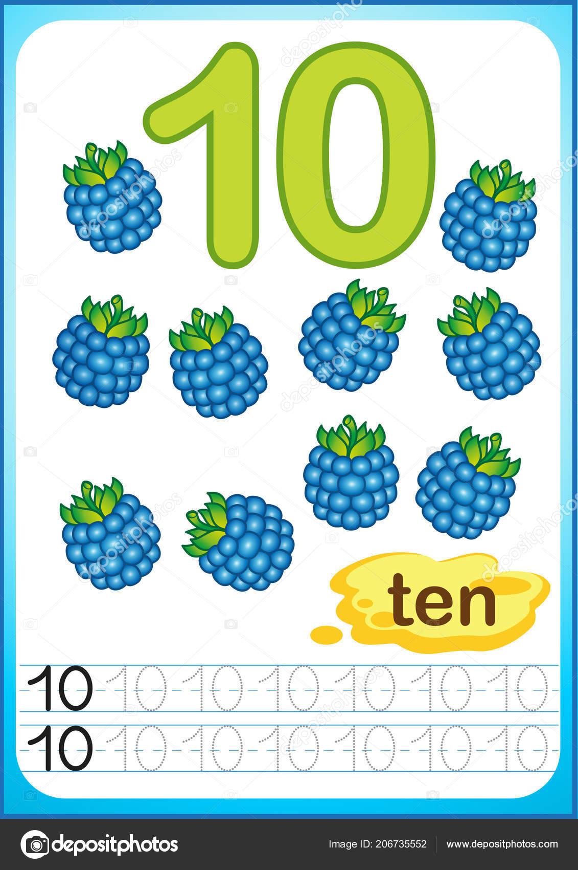 Printable Worksheet Kindergarten Preschool Harvest Ripe Berries ...
