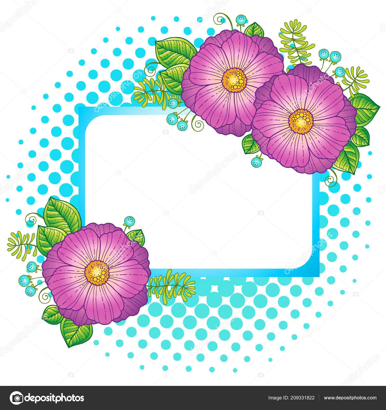 Lato Kwiatów Elementy Instancji Vector Białym Tle Wektorowa