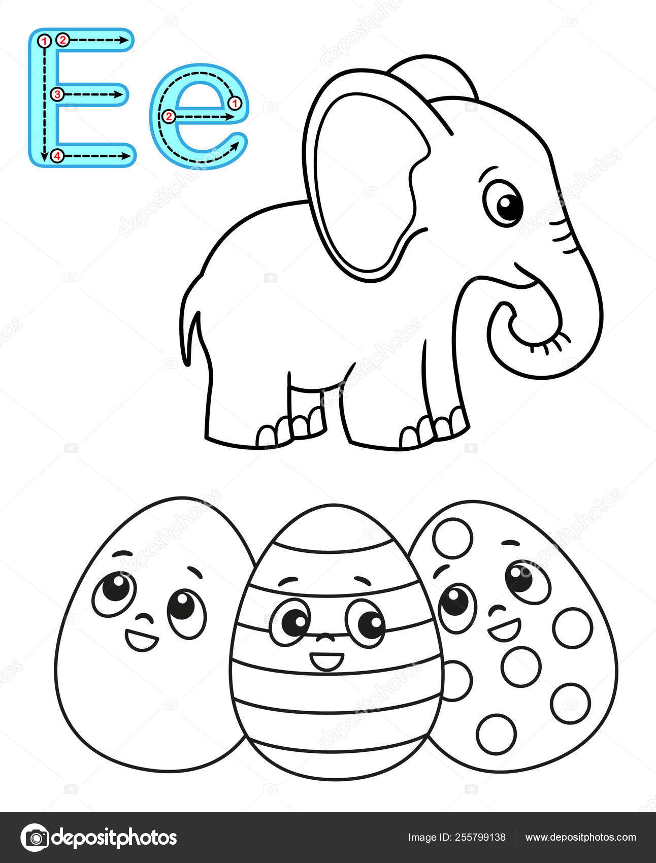 - Letter E Art Projects For Preschoolers Printable Coloring Page