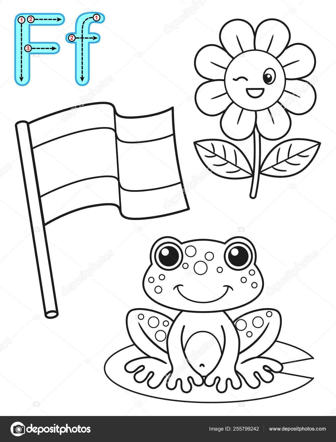 Top 10 Free Printable Letter F Coloring Pages Online | 1700x1292