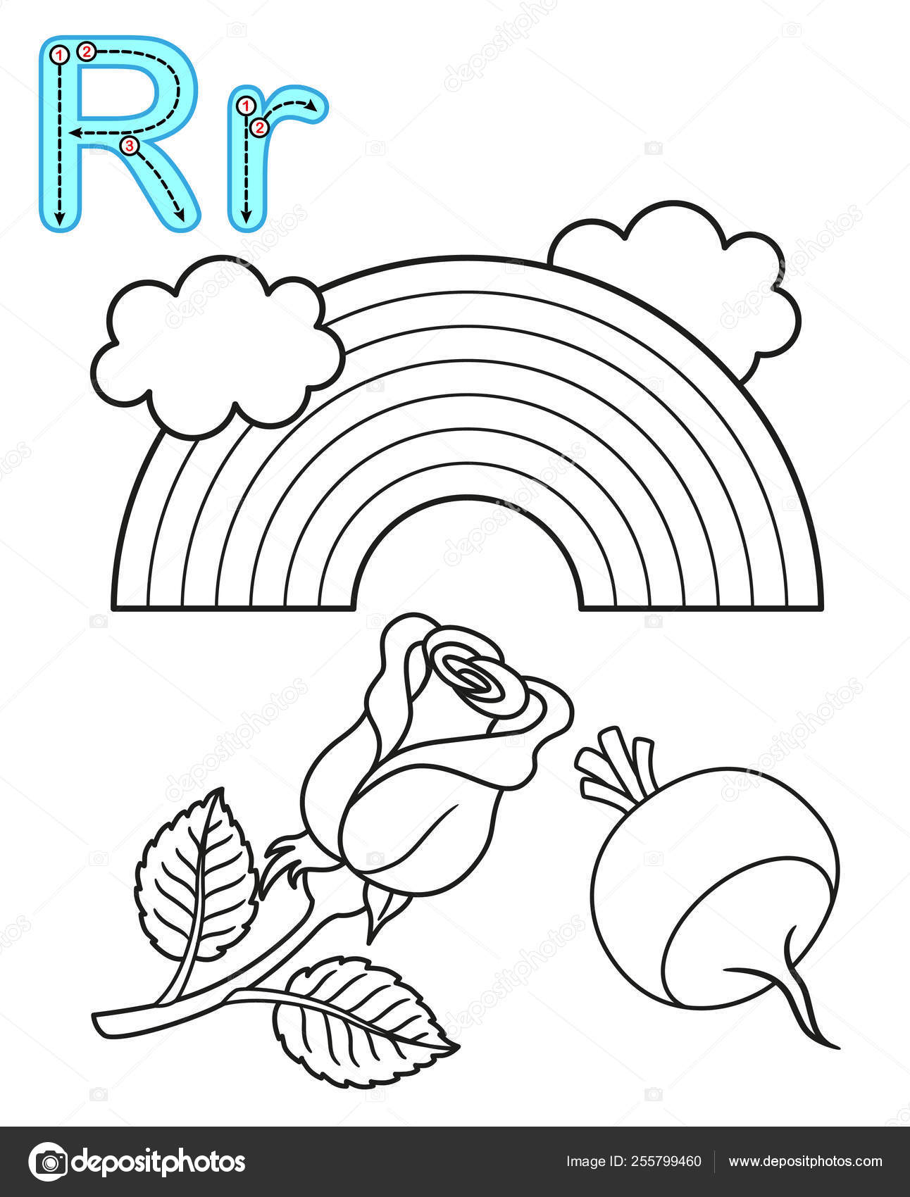 Printable Coloring Page For Kindergarten And Preschool. Card For ... | 1700x1292