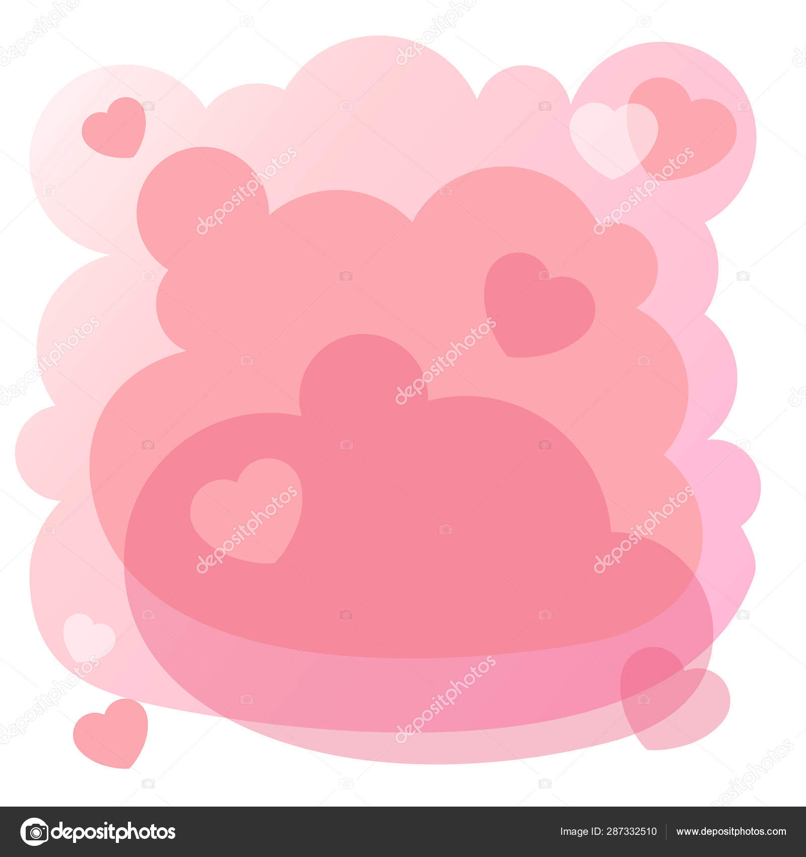 Cute Pink Background Design Wallpapers Books Invitations Baby Shower Valentines Stock Vector C Natasha Tpr 287332510