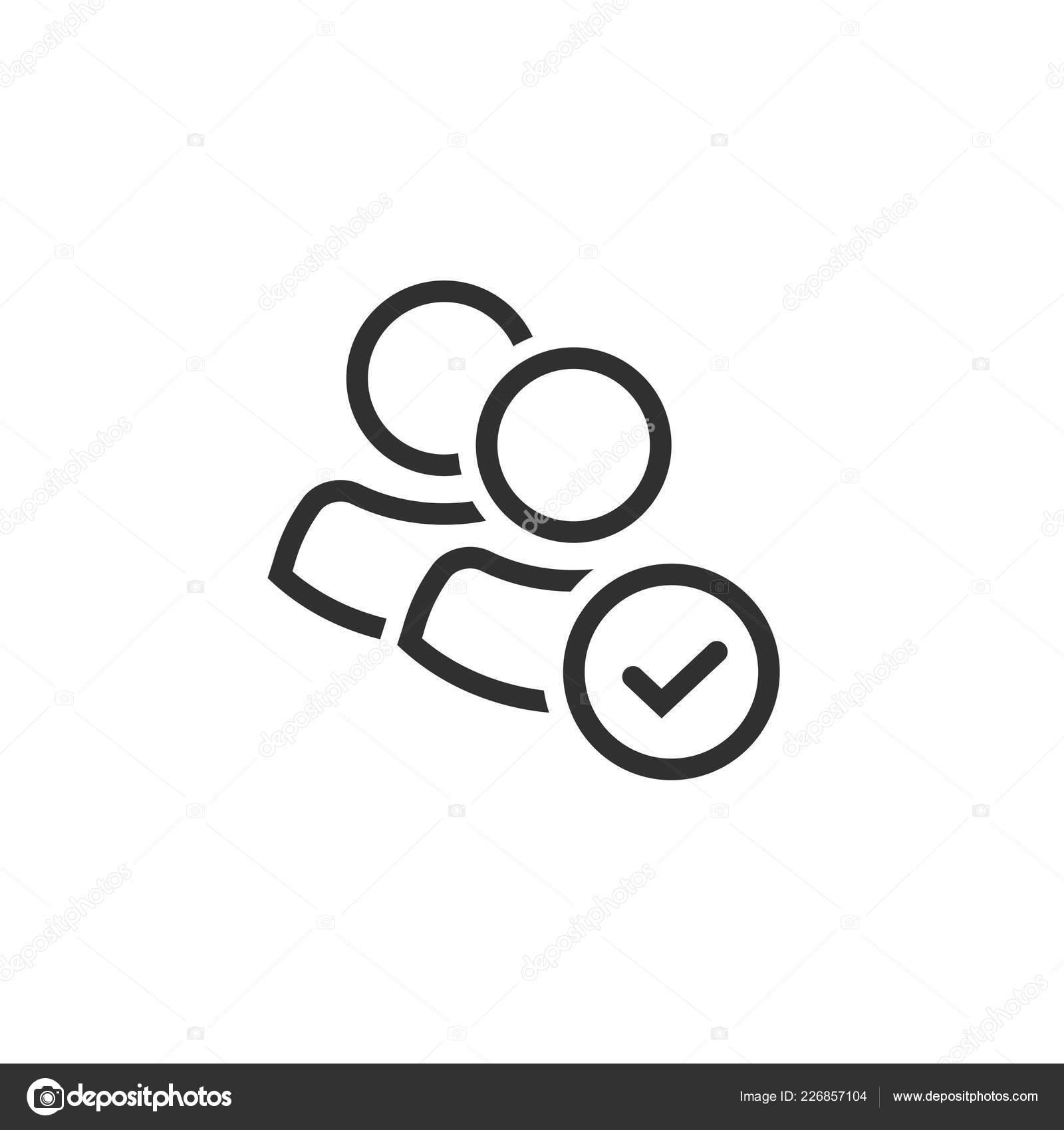 Clipart: membership | User group icon vector, line art