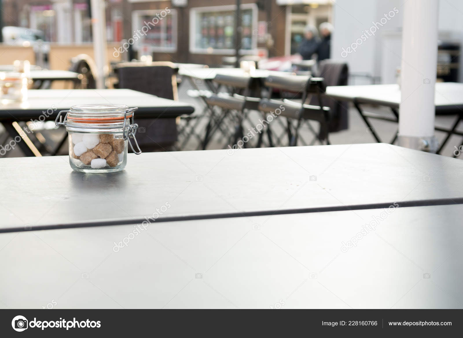 Outdoor Area Coffee Shop Restaurant Tables Copy Space Stock Photo C Tommoh21 228160766