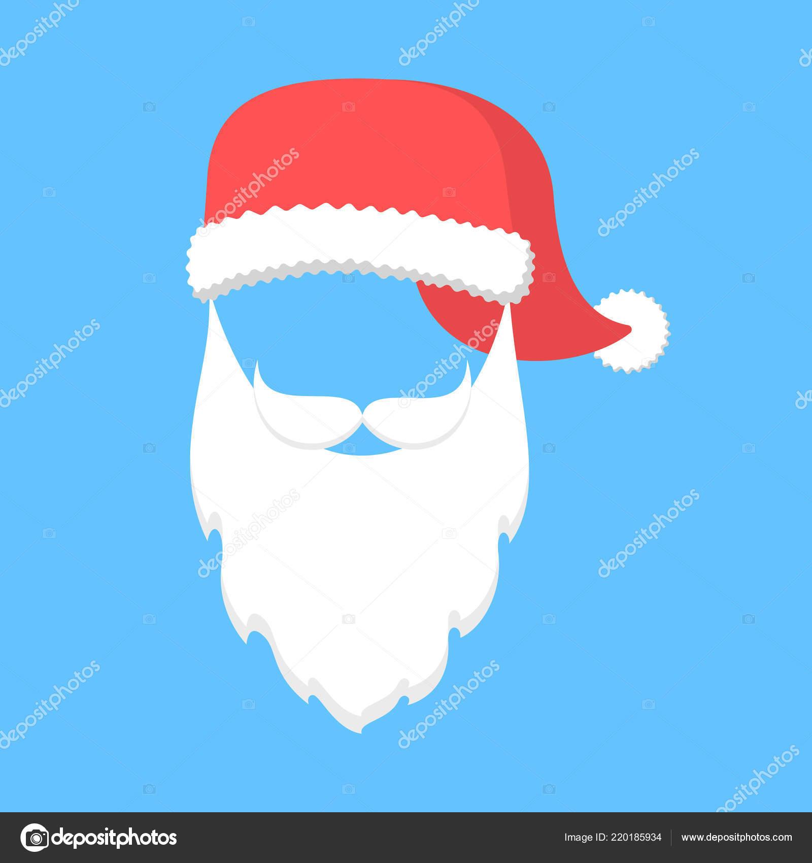 8ea577efda191 Santa Claus mask with hat and beard — Stock Vector © inspiring ...