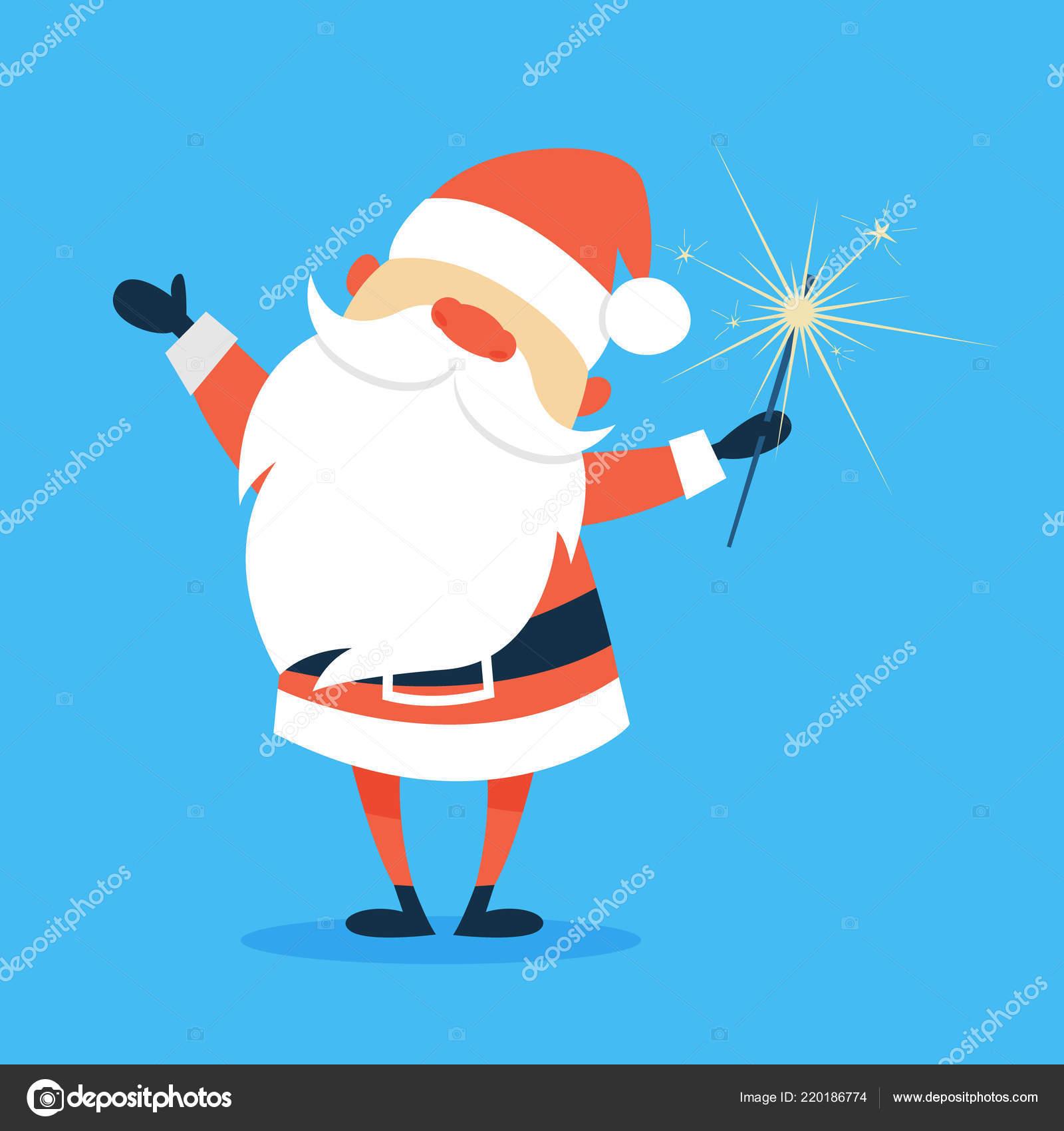 Joyeux Noël drôle en habits rouges — Image vectorielle inspiring.vector.gmail.com © #220186774