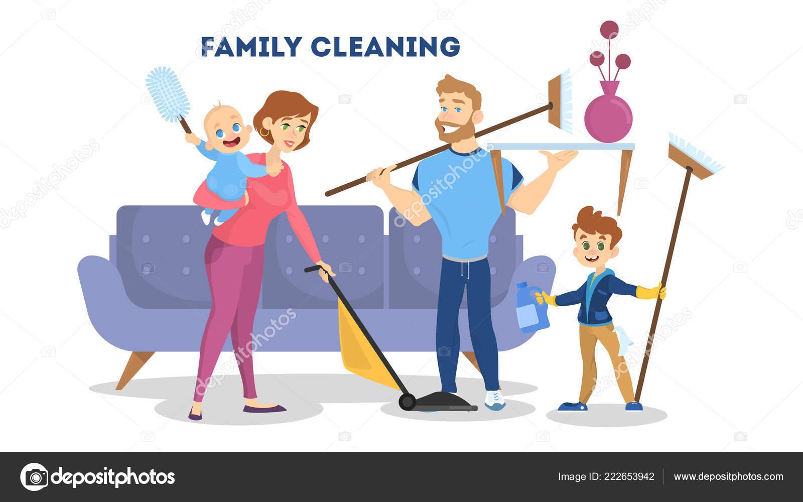 Limpieza de la casa a la familia madre padre e hijos - Trabajo para limpiar casas ...