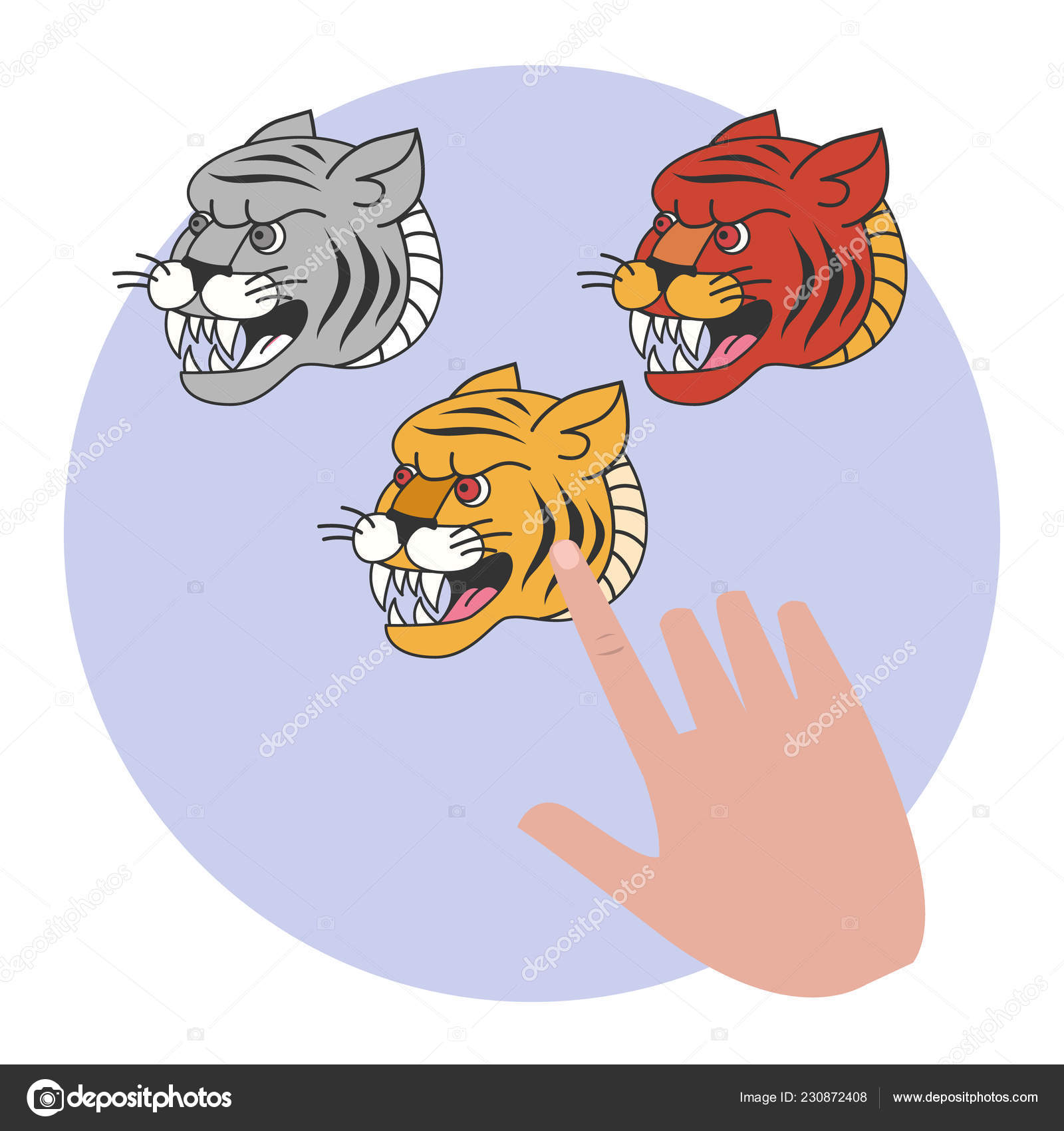 Tiger Tattoo In Traditional Style Old School Stock Vector