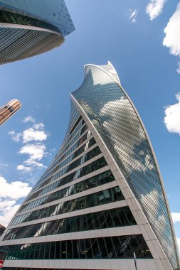 A view of the Moscow International Business Center - Moscow-City-; in Moscow; Russia.