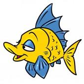 Pesci colorati fumetto illustrazione immagine isolato