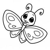 Fotografia Farfalla fumetto carattere insetto pagina illustrazione immagine isolato da colorare