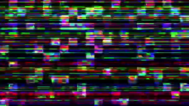 Unique Design Abstract Digital Animation Pixel Noise Glitch Error Video Damage . Multicolored background with Glitch effect .