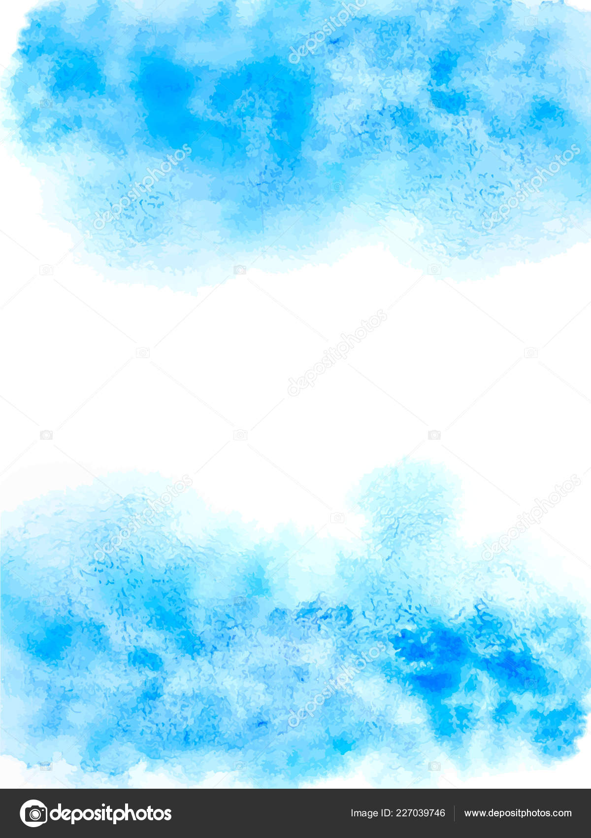 Watercolor Blue Abstract Background Abstract Painting